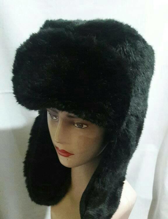obral murah topi rusia bulu halus full black model justin bieber PROMO