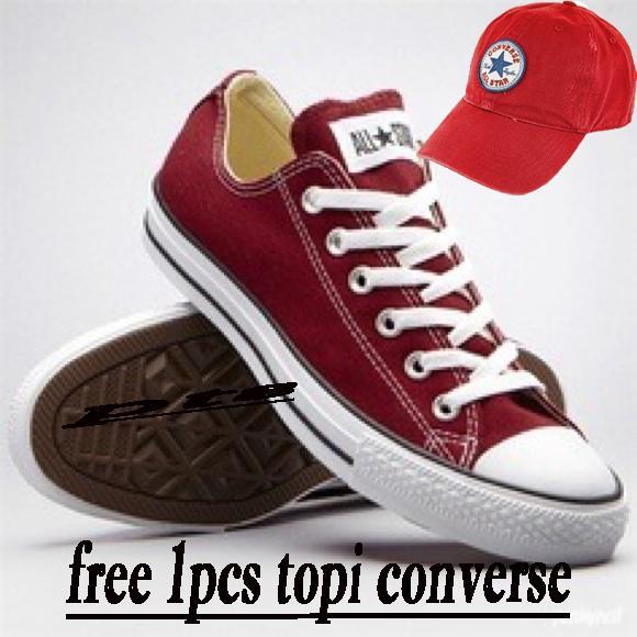 SEPATU CONVERSE ALL STAR TOP PRODAK FREE 1PCS TOPI CONVERSE