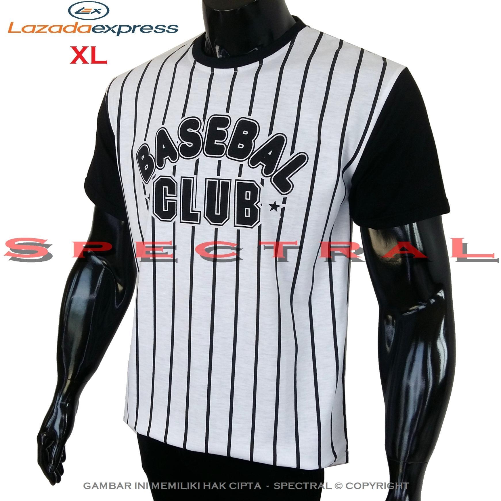 Spectral – Kaos L / XL Baseball Distro Fashion T-Shirt Cotton Pria Wanita Cewe Cowo Baju Pakaian Olahraga Sport Ukuran Besar Yangkee Base Ball Rap Hop Hiphop Atasan Keren Murah Bagus Jakarta Bandung Kekinian Jaman Tulisan Bisbol Basket Salur Putih