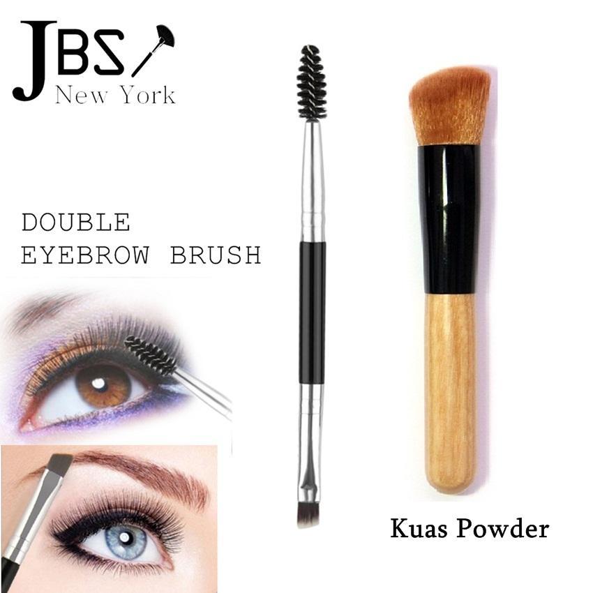 JBS New York Brush 2 In 1 Bundle Kuas Powder Concealer K061 K004