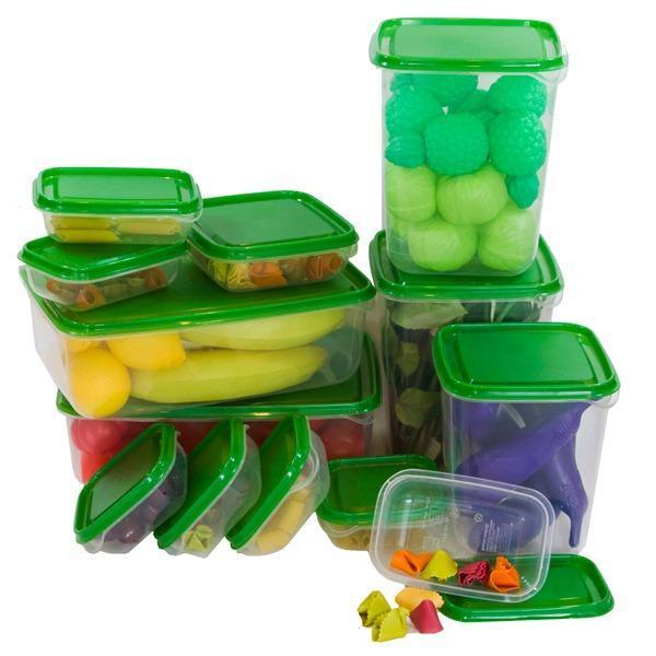 IKEA Pruta Hijau Kotak Penyimpanan Makanan Toples Kue Food ContainerPlastik isi 17 pcs BPA Free