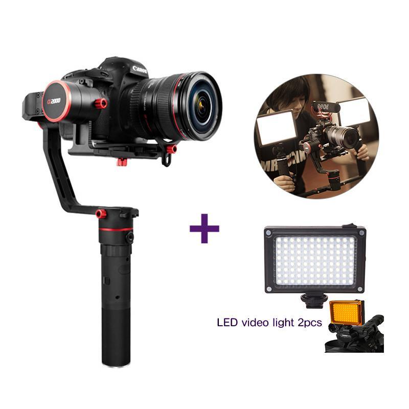 Feiyu Tech Feiyu Fy A2000 Kamera Mirrorless Lipat Genggam Penstabil Kamera DSLR untuk Canon 5D DSLR dan Sony A7SII GH5