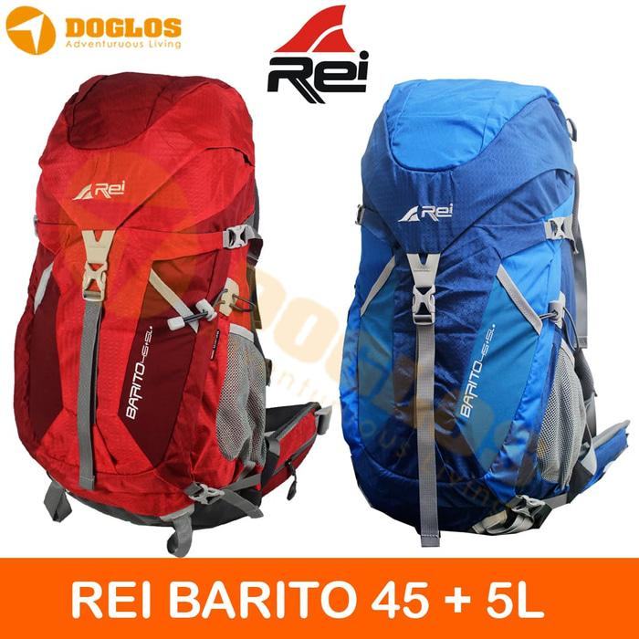 Tas Carrier Rei Barito 45 + 5L Keril Rucksack Gunung Outdoor Hiking