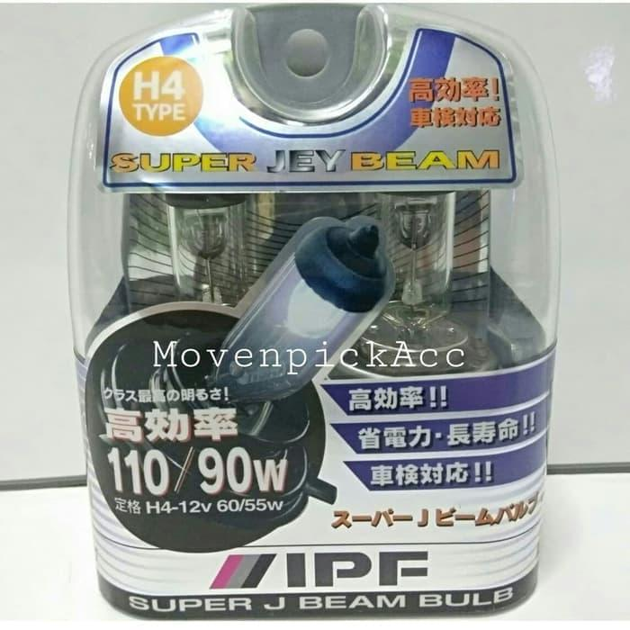 Bohlam IPF H4 12V 60/55W P43t SUPER J BEAM ORIGINAL JAPAN