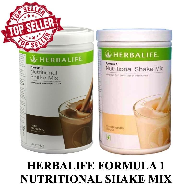 Herbalife 2 in 1 Formula Nutritional Shake Mix - Dutch Chocolate dan French Vanilla