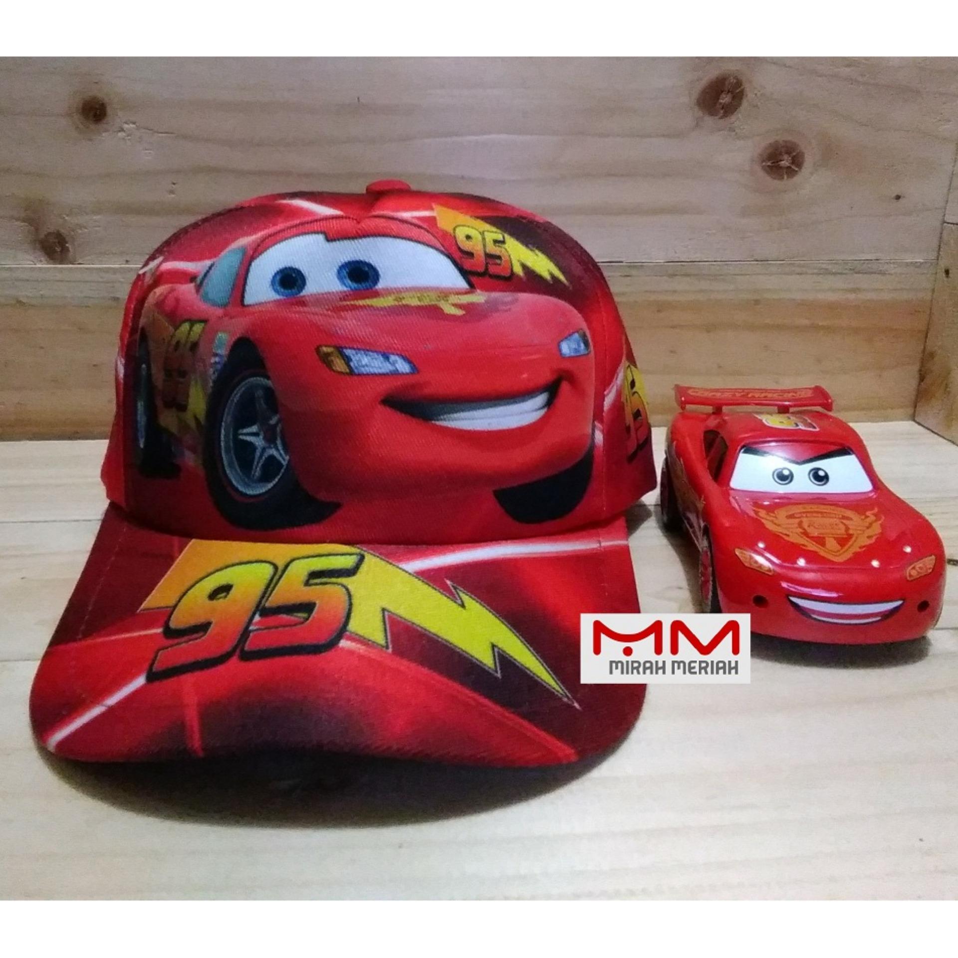 Topi baseball anak laki karakter CARS printing