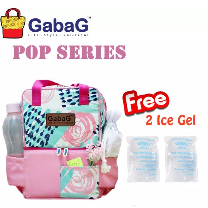 Gabag Cooler Bag Ceri free 2pc ice gel -  Coolerbag Ceri - Tas Asi Bayi Murah Modis - picnic series