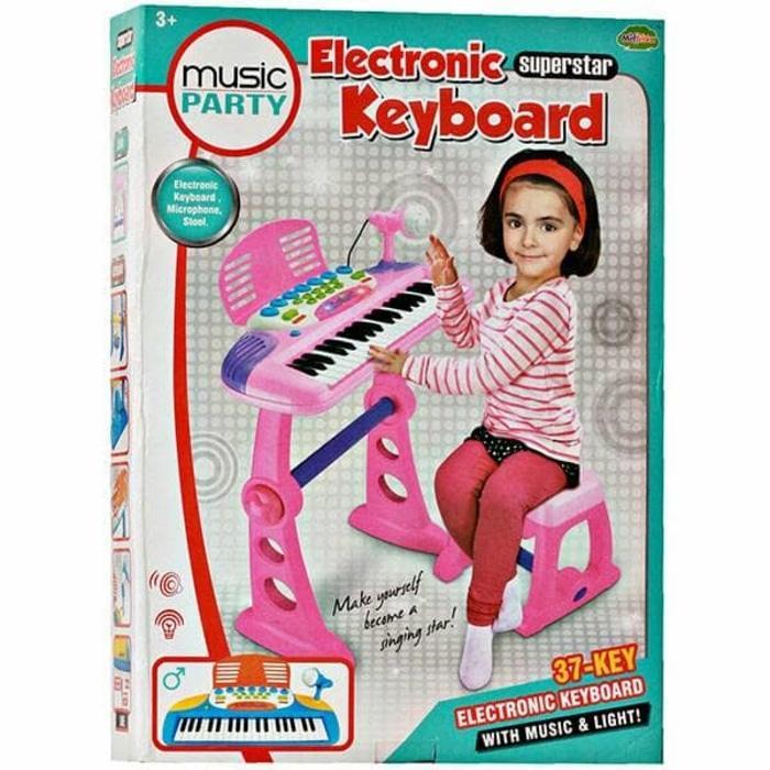 PALING DICARI ELECTRONIC KEYBOARD PINK BO-27A - MAINAN MUSICAL KEYBOARD TERLARIS