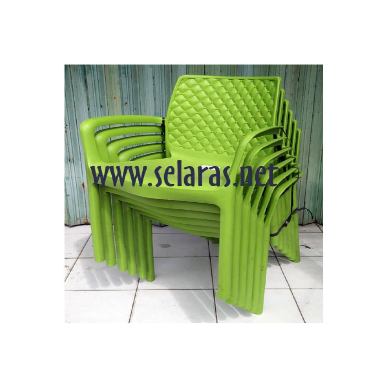 Olymplast Kursi teras/ kursi taman/ kursi cafe plastik wrn hijau daun