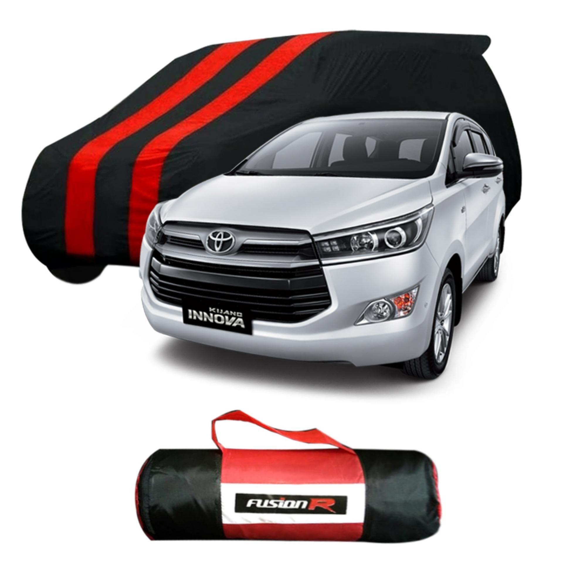 Vanguard Body Cover Penutup Mobil INNOVA REBORN Merah Hitam Waterproof / Sarung Mobil INNOVA REBORN Premium