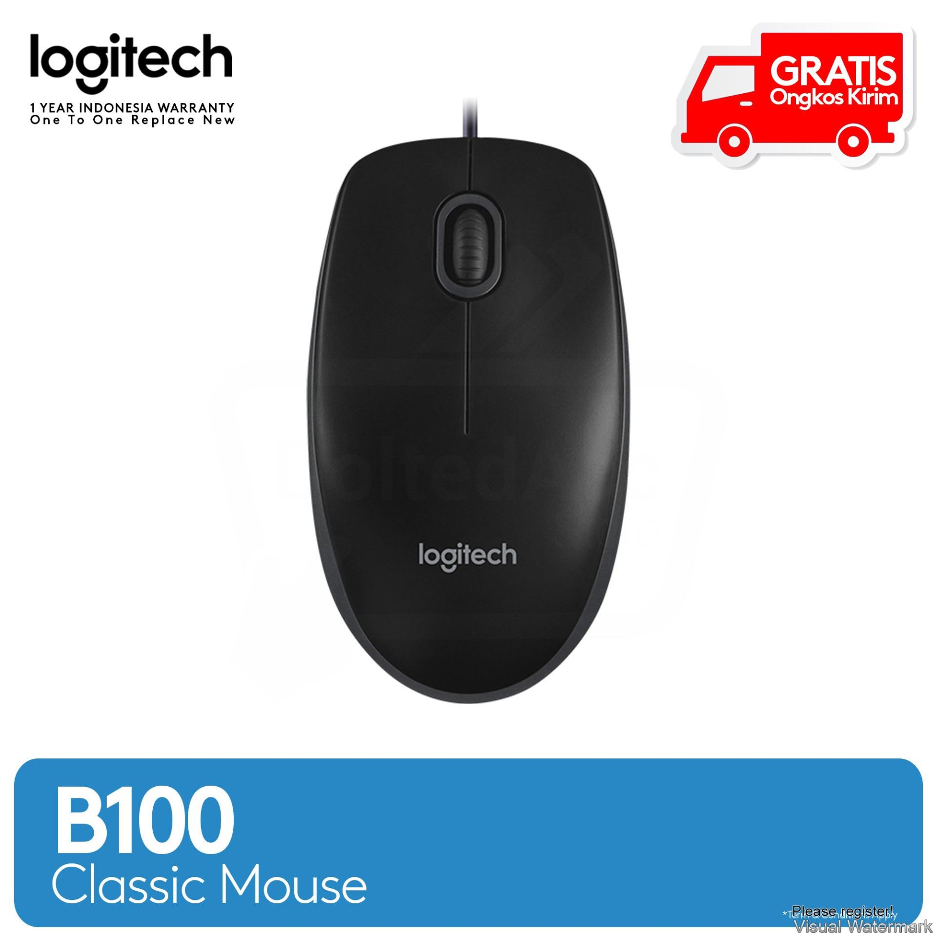 Kelebihan Keyboard Mouse Logitech K120 Usb B100 Garansi 1 Optical Original Hitam