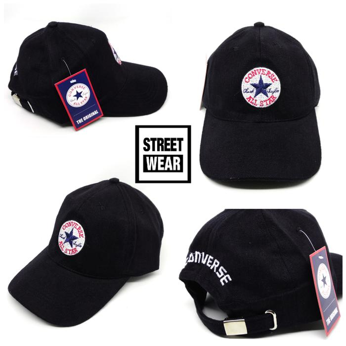 Topi Converse Core Cap Center - black Original