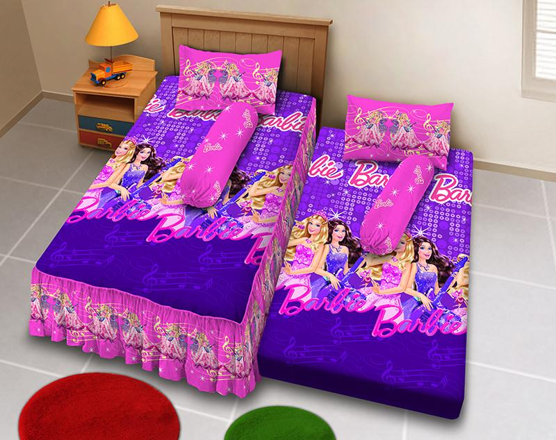 Kintakun D'luxe Sprei 2in1 - 120 x 200 (Single) - Barbie Pop Star