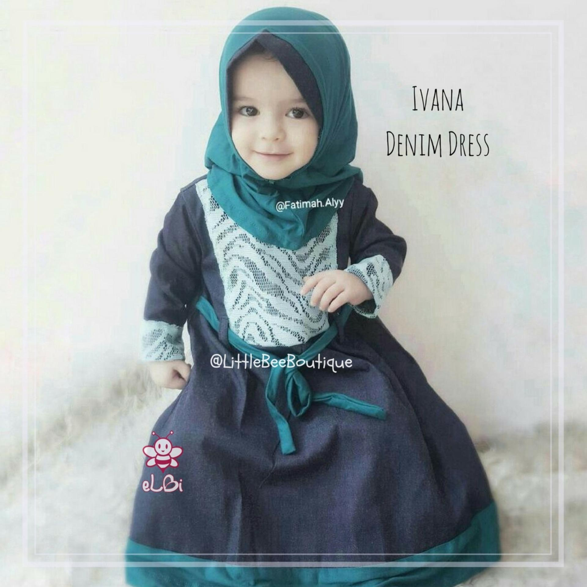 eLBi Gamis Anak Balita Muslim Perempuan Ivana Dress by Little Bee Boutique