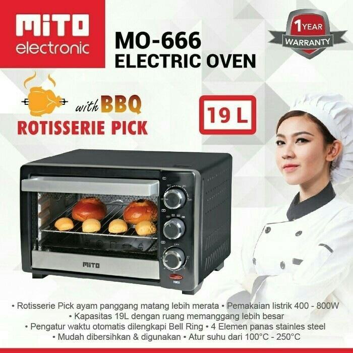 MITO OVEN ELEKTRIK 19 L. MO-666/ OVEN LISTRIK