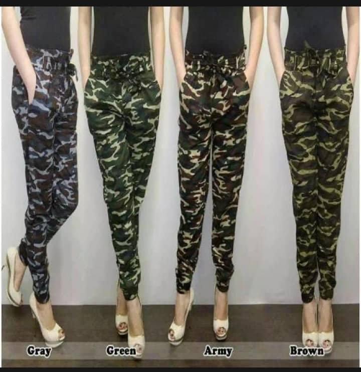 Celana joger Army Wanita pants panjang terkini