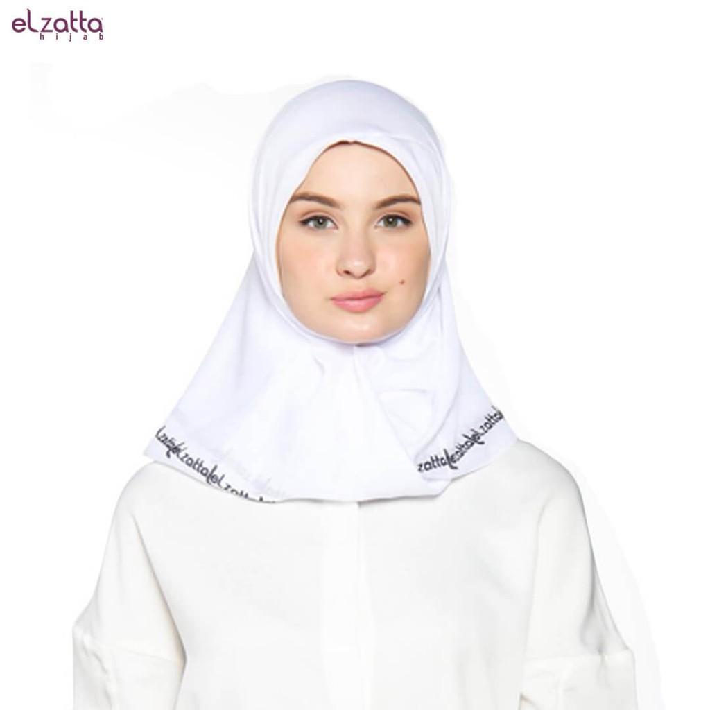 Elzatta Hijab / Hijab / Hijab Segi Empat / Scraft / Elzatta Basic / E006 PUTIH