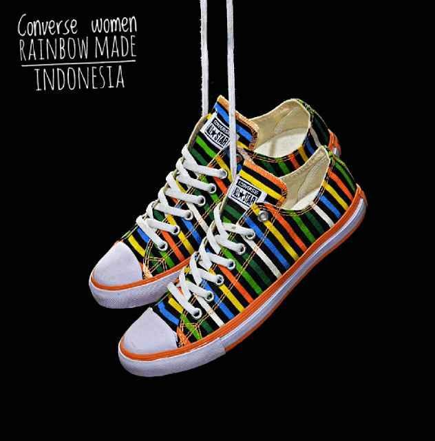Promo Sepatu Murah Converse Rainbow Original Indo Sepatu Wanita Diskon