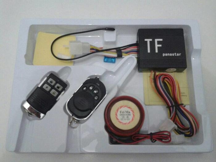 Alarm Motor Panastar + Remot + Cara Pasang Pengaman Kunci Anti System - ZbF18B