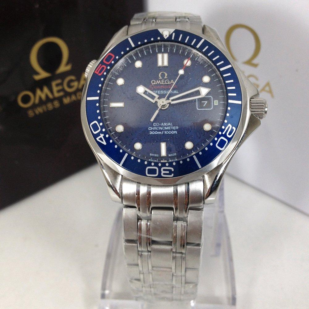 Jam Tangan Pria Omega Seamaster 007 Bond Edition Automatic Movement Blue Edition Premium