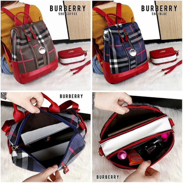 TAS Fashion Wanita TERBAIK / Tas Backpack IMPORT MURAH / Tas Ransel Burberry ORIGINAL