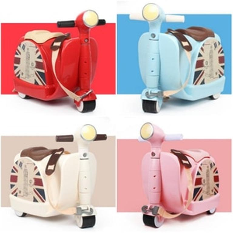 Baby Angeline Tas Koper Anak Vespa Scooter Luggage Trolley Bag Troli Ride On