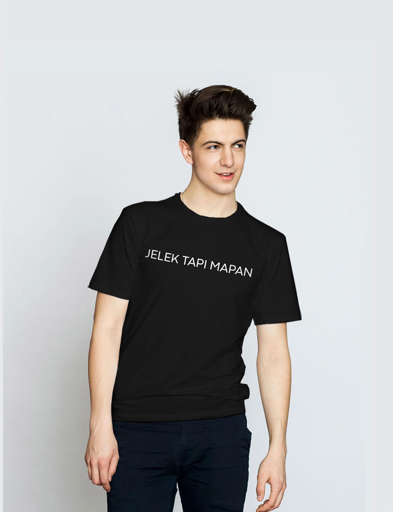 Pd Cloth Kaos Distro Jelek Tapi Mapan Lengan Pendek - hitam