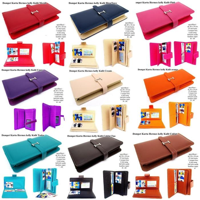 DOMPET KULIT SOFT HERMES KELLY KARTU KW EXPORT ALL - UOLb5L