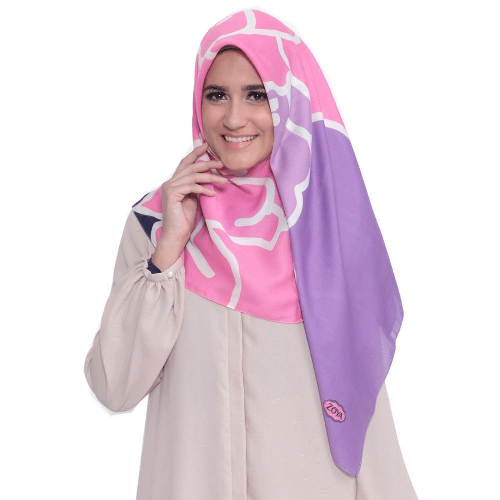 Kerudung Zoya Hijab Segiempat - Alma Scarf