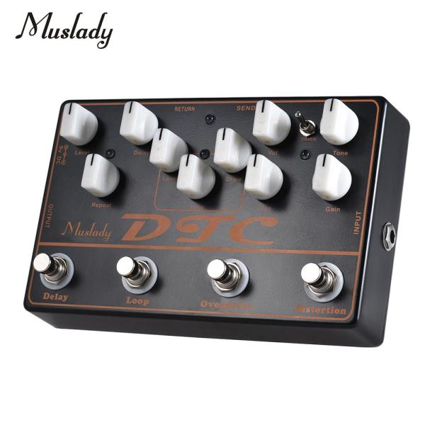 Muslady DTC 4-in-1 Electric Guitar Effects Pedal Distortion + Overdrive + Loop + Delay Malaysia