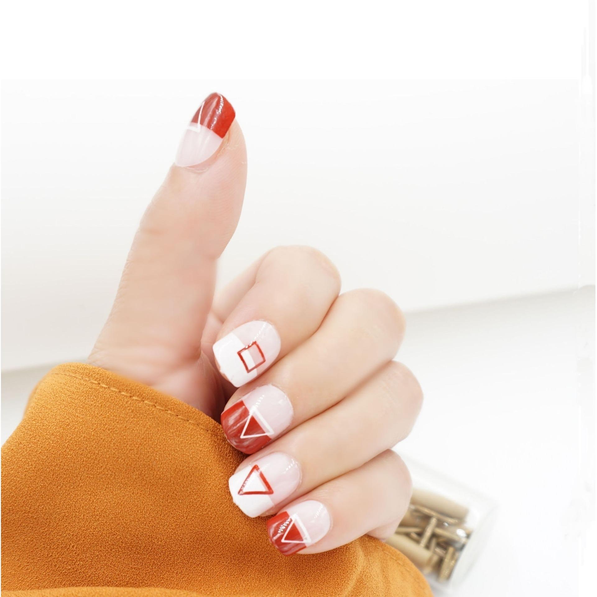 Kelebihan Jbs Nails Kuku Palsu Fake Nail Art Wedding Pink Pita 3d A39 A12