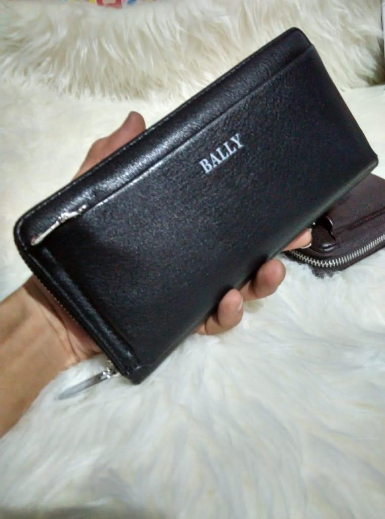 Theclover New original dompet tangan BALLY ZIPPER CLUTCH PRIA DAN JUGA  WANITA 42046eb184