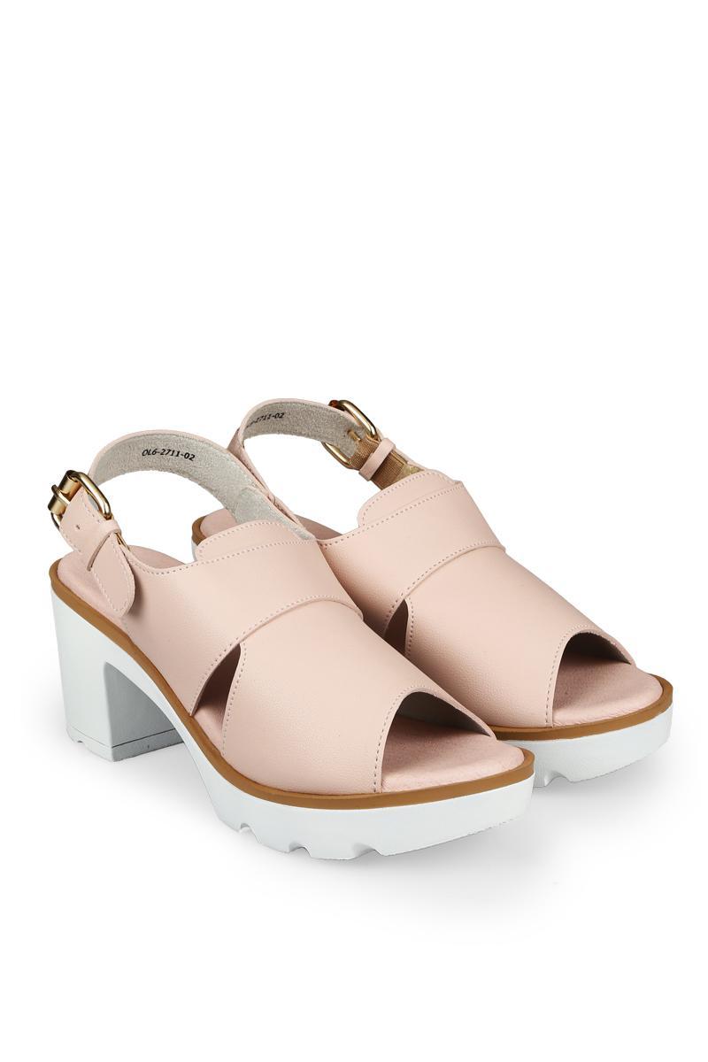 Yongki Komaladi Sepatu Fashion Sandal Heel Wanita Arundaya Peach