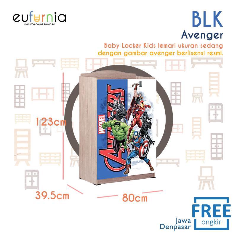 Eufurnia Olympic Baby Locker Avanger Series - Lemari Pakaian Anak Karakter Avanger