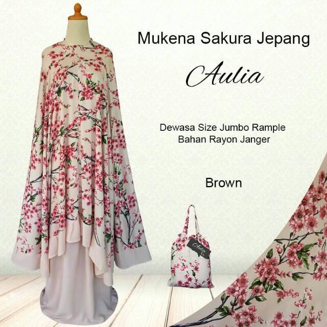 Mukena bali size dewasa motif bunga sakura bahan rayon adem,lembut dan nyaman di pakai
