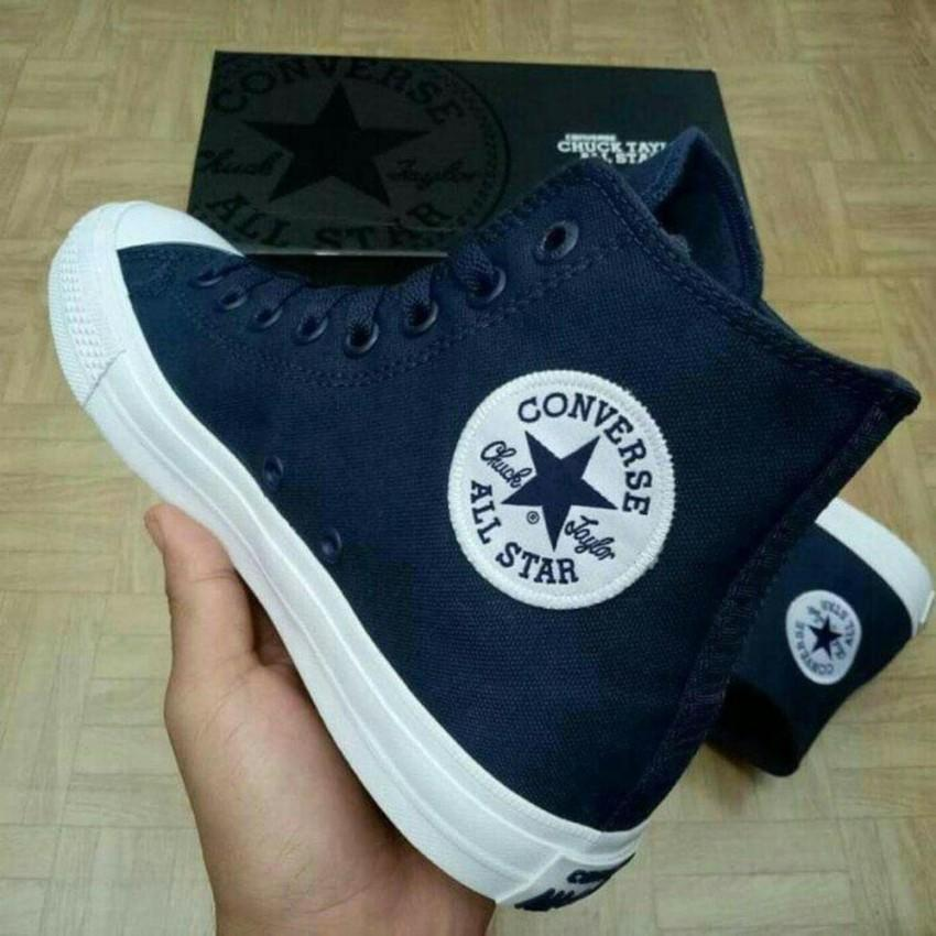 sepatu sneakers converse all star unisex CT II LOW CUT 06-NAVY