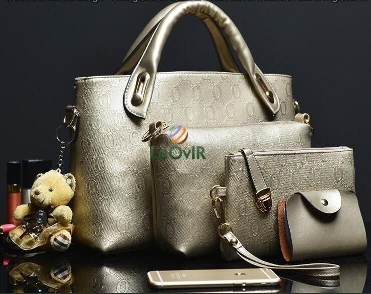Tas Branded Wanita - Top-Handle Bags - PU Leather - 34053(4IN1)