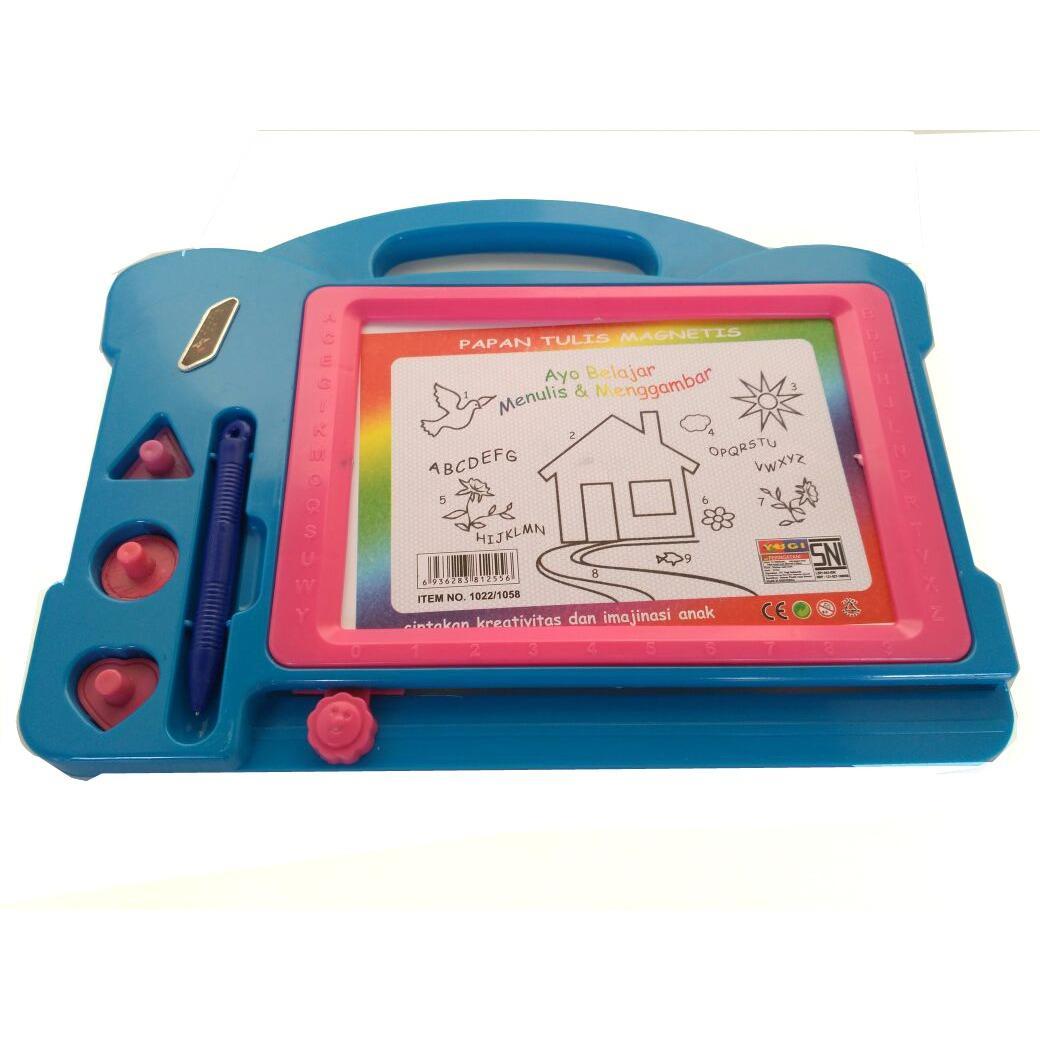 mainan papan tulis mag white board merah kuning biru hijau