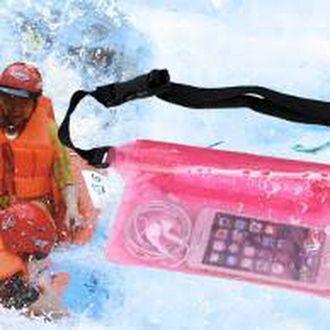 Tas Pinggang Kantong Anti Air Muat HP Dompet Waterproof Waist BAG