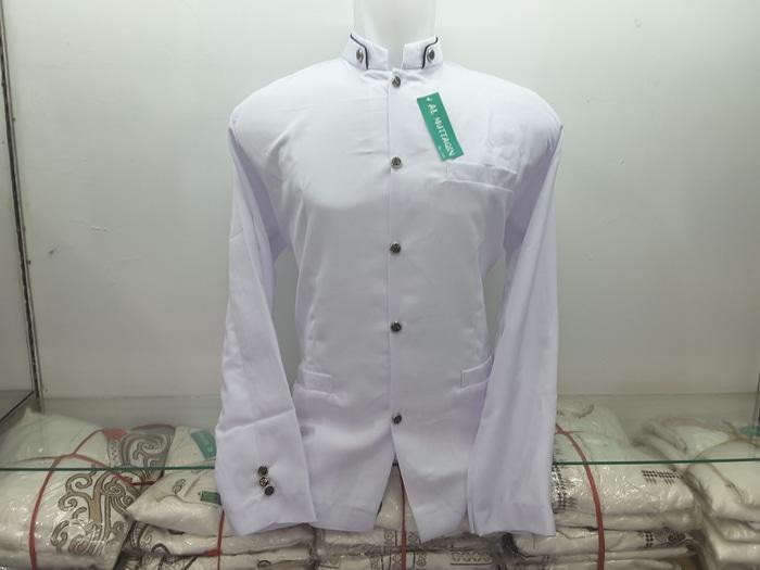 Jas Koko Jasko Putih Bersih Polos Baju Koko Al Muttaqin Collection