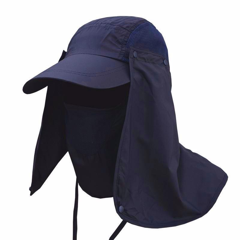 Topi Anti UV Matahari - Navy Blue