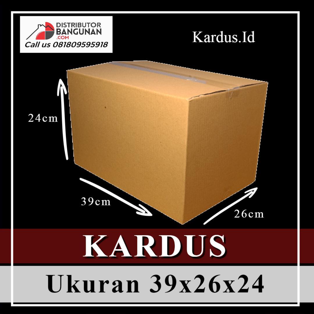 Kardus Dus Karton Box Polos Packing Packaging Besar Ukuran 39x26x24 Baru (Bkn Bekas)