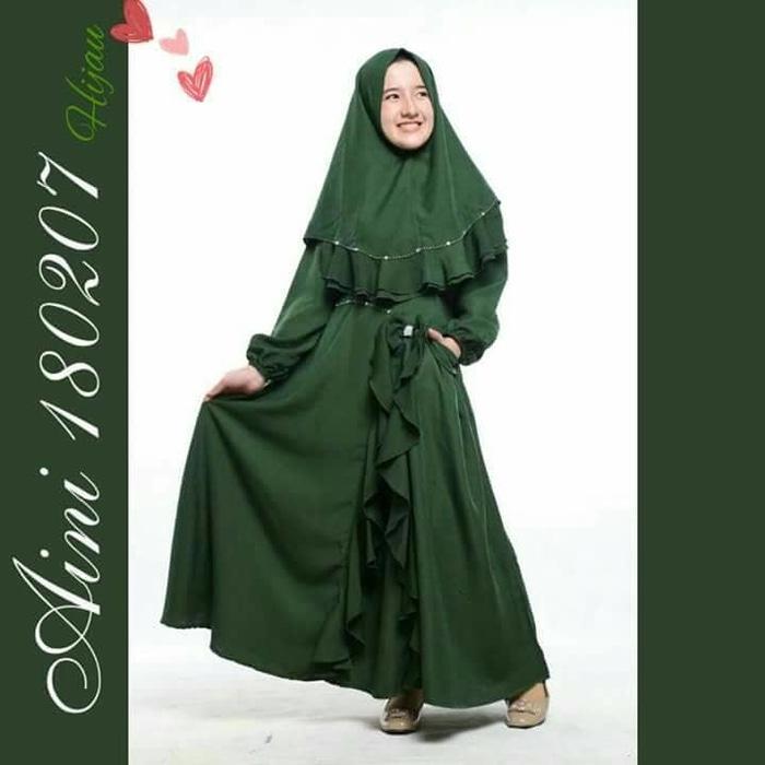 Baju Muslim Anak Perempuan Balita TK SD, Gamis Pesta Anak Aini 180207