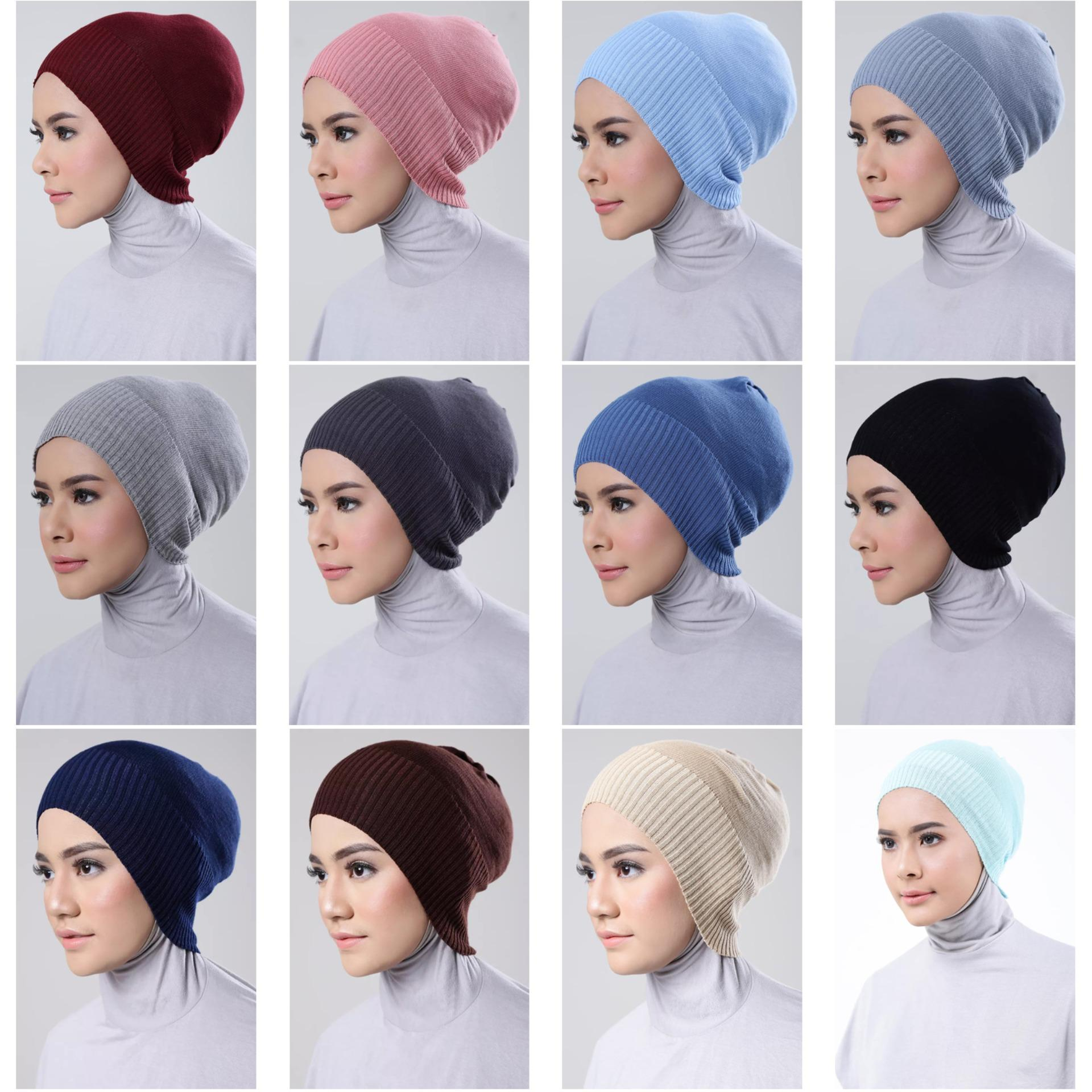 Inner Hijab Ciput Rajut (Comfort), - ISI 6 Pcs, BEBAS PILIH WARNA + FREE 1 Pcs