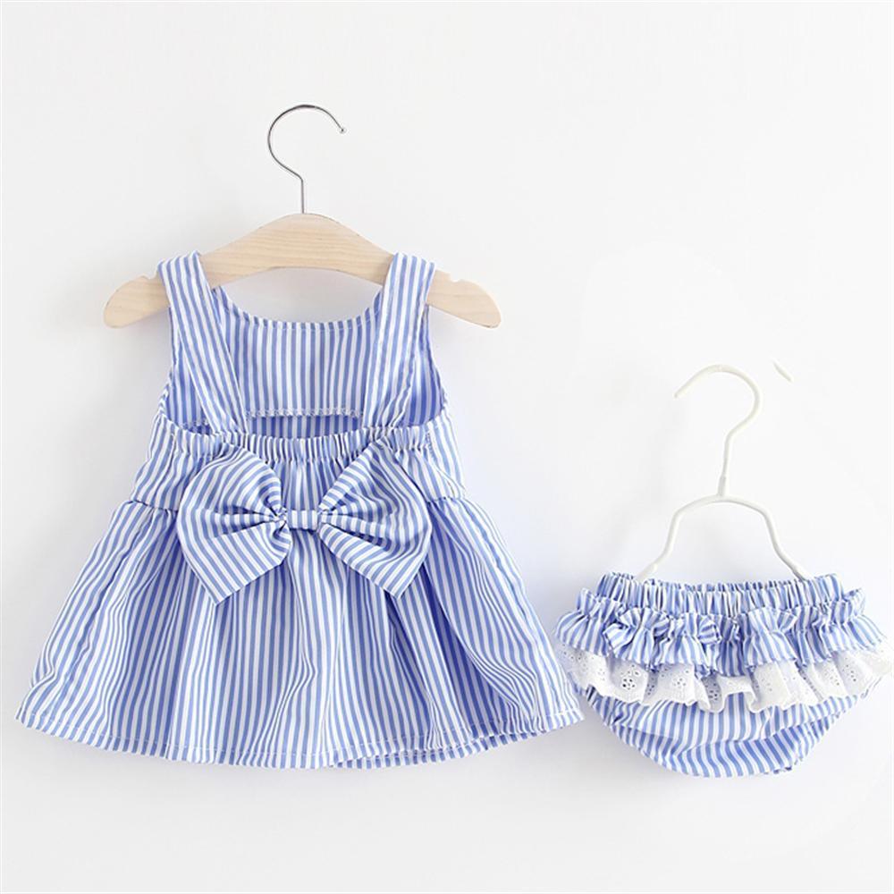 9e247ae06545 2018 New Arrival Summer Kids Baby Girls Dress Stripe Baby Girl Clothes for  Newborns Vestido De