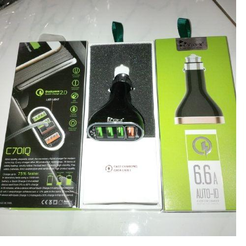 Charger Mobil Vio_-X C701Q 4port 6.6A Fast Charging