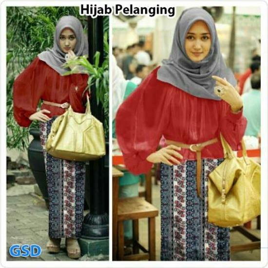 Gamis Hijab Pelangging Maron (3 in 1)