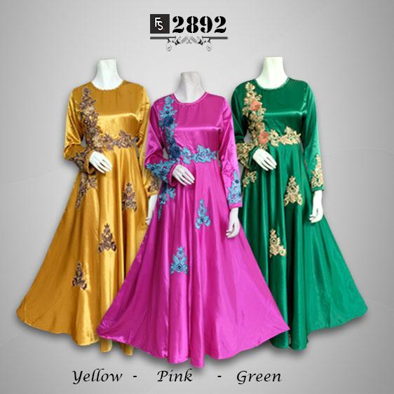 Toko Kirana Surabaya Gamis maxi dress baju gaun pesta busana muslim  Zanitha 892