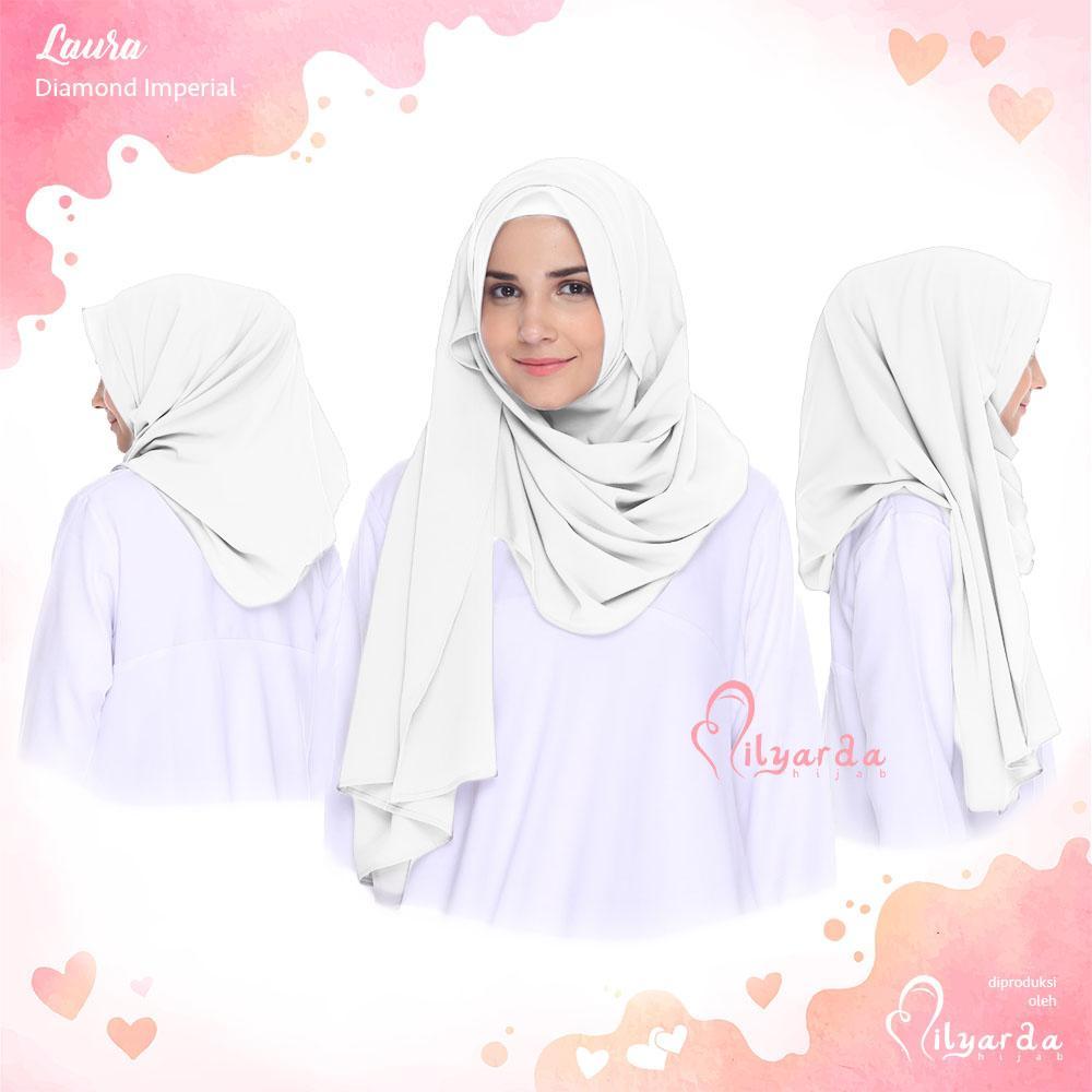 Hijabku Murah Jilbab Instan Laura - [Warna Putih]