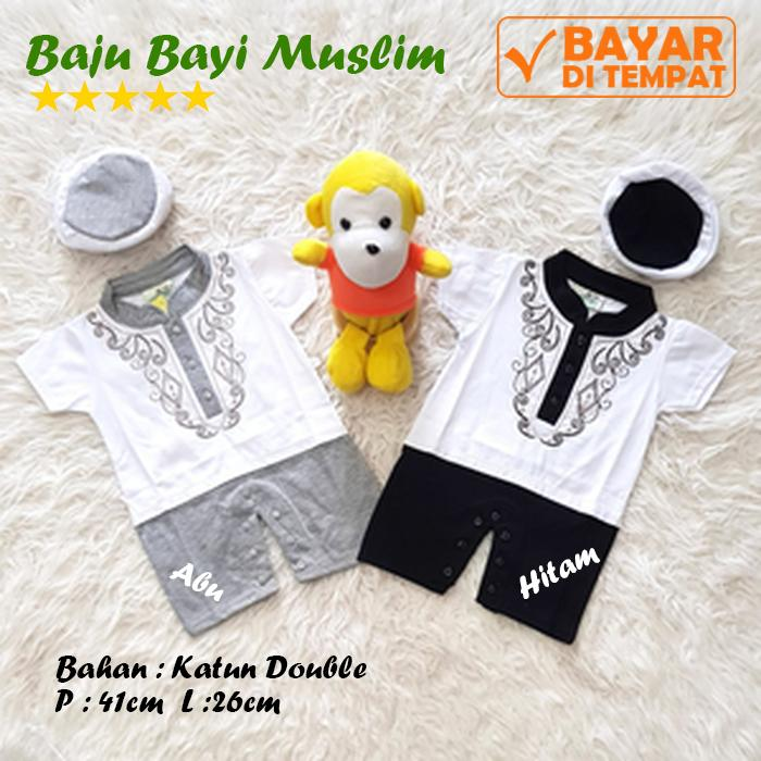 Baju Bayi Laki -Laki Muslim Baju Koko Bayi Jumper Bayi Muslim